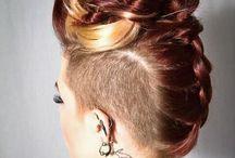 Side shaved & braids
