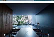 Projeto Arquitetônico 3 - Habitação / Referências arquitetônicas para o projeto da casa internacional da UnB. Conceito: contraste e flexibilidade.