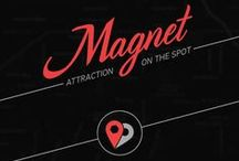 Magnet Design / Magnet is the first on-site attraction app, merging the best aspects of online dating and real life approaching.  With the check-in feature, Magnet allows you to quickly browse and filter singles around you, in real-time. If there is mutual interest, you get connected with a 5-minute chat. Break the ice and meet up on the spot.