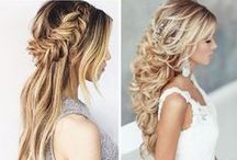 Hair Comes The Bride (Hair/Make-up) / Hair and make up styles for the engagement photos, rehearsal dinner and wedding day.