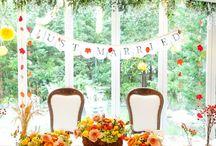 ハロウィン 結婚式 / ハロウィンにやった結婚式。テーマは『収穫祭』 自分たちで田植えして刈り取った稲穂を使って、会場の装飾とブーケを作りました。
