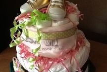 French diaper cake by 100 pour 100 Amour gateau de couches / Gifts for baby showers, BIrthday...  Preuve d Amour with french touch