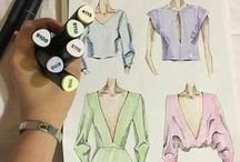 FASHION DRAWINGS / Sketches and fashion drawings. Made with Graph'it.