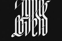 Typography, Calligraphy & Lettering / Calligraphic text