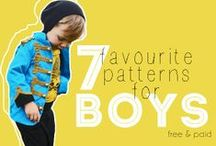Sewing Patterns for Boys / Beautiful sewing patterns to make clothes for boys.