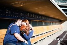 Baseball Stadium Engagement Session / Brittany & Andy's engagement session at Commerica Park