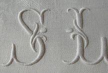 KÄSITYÖT... / Monogrammit, liinavaatteet,pyyhkeet ymv...