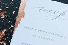 MINIMALIST STATIONERY / Calligraphy, wedding invitations