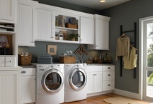 Laundry Rooms / Laundry rooms don't have to be all work, no play.  Here we've gathered a myriad of beautiful -and- efficient laundry rooms;  as well as some laundry tips, organizing ideas, and even some art to personalize your space.