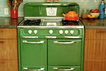 Vintage Kitchens and Cookware / Before Granite counter tops, and Stainless Steal appliances  / by Monika Weiler