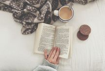 "Bookworm & Coffeelover / Nothing is better than the smell of a fresh cup of coffee and your favourite classic, all bundled up in bed, saying ""see you later"" to the outside world."