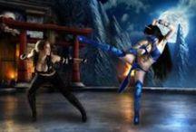 Mortal Kombat 9 / Mortal Kombat 9 Kitana cosplay by Zyunka Muhina http://jane-po.deviantart.com/ Sonya by Okani http://okani1995.deviantart.com/