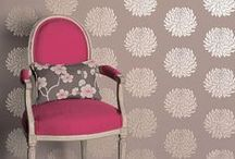{Home} Wallpaper / Wallpaper can evoke a look anywhere from modern to vintage! From wall to ceiling, these designs may have you re-thinking your grandma's approach to home decor!