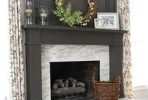 Warm & Cozy Fireplaces / Fun and creative ways to decorate your fireplace and mantle, including fun seasonal ideas!