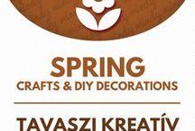 Spring crafts & spring decor / Tavaszi dekorációk - ötletek tavaszra / Spring related craft ideas & DIY tutorials. For more craft ideas visit our site: http://www.mindy.hu/en ◄◄ ║ ►►Tavasszal kapcsolatos kreatív ötletek és dekorációk. (Ha magyarul szeretnéd látni az ötletek leírását a Mindy oldalán: a Mindy-n a menü alatti szürke sávban az oldal tetején találhatod a nyelvváltás gombot!) Még több kreatív ötlet: http://www.mindy.hu/hu