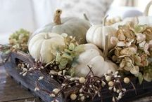 •●• Fall Centerpieces •●• / Elegant fall table decorations to celebrate the season.