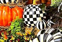 •●• Pumpkin Decorating •●• / Pumpkins add stylish, creative and fun touches to fall decorating. Get stylish new ideas for decorating your fall pumpkins here!