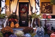 •●• Halloween Exterior •●• / Trick and treat your neighbors with these spooky outdoor decorations to transform your front door, porch, or yard for Halloween.