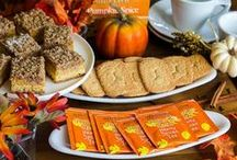 •●•  Pumpkin Spice Cookies •●• / Pumpkin spice cookies have never tasted (or looked!) this good. Like what you see? For more recipes & ideas stop by My Bella Villa on Facebook & Tumblr!