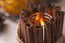 •●• Cinnamon Touched Candles •●• / These cinnamon stick candle holders smell as lovely as they look. Simply tie cinnamon sticks around your candles. The heated cinnamon makes your house smell amazing!! Guaranteed to take your senses on a journey..