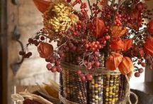 •●• Dried Corn Centerpieces •●•