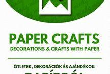 Paper crafts  // Kreatív ötletek papírból / Crafts with paper! Kids papercraft tutorials, origami tutorials, free printables and more! For more craft ideas visit our site: http://www.mindy.hu/en ◄◄ ║ ►►Mindenféle papírból készült kreatív alkotás (nyomtatható dolgok, origami, kreatív ötletek gyerekeknek papírból stb) (Ha magyarul szeretnéd látni az ötletek leírását a Mindy oldalán: a Mindy-n a menü alatti szürke sávban az oldal tetején találhatod a nyelvváltás gombot!) Még több kreatív ötlet: http://www.mindy.hu/hu