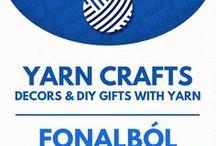 Yarn crafts // Kreatív ötletek fonalból / Yarn crafts: yarn decorations & gifts with yarn! For more craft tutorials visit our site: http://www.mindy.hu/en ◄◄ ║ ►► Kreatív húsvéti ötletek: húsvéti dekorációk és ajándékok (Ha magyarul szeretnéd látni az ötletek leírását a Mindy oldalán: a Mindy-n a menü alatti szürke sávban az oldal tetején találhatod a nyelvváltás gombot!) Még több kreatív ötlet: http://www.mindy.hu/hu