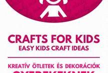 Crafts for kids // Kreatív ötletek gyerekeknek / Crafts for kids (kids crafts tutorials). For more craft ideas visit our site: http://www.mindy.hu/en ◄◄ ║ ►► Kreatív ötletek gyerekeknek (Ha magyarul szeretnéd látni az ötletek leírását a Mindy oldalán: a Mindy-n a menü alatti szürke sávban az oldal tetején találhatod a nyelvváltás gombot!) Még több kreatív ötlet: http://www.mindy.hu/hu