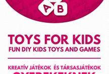 DIY toys for kids // Kézzel készült játékok gyerekeknek / DIY toys for kids (toy making tutorials). For more craft ideas visit our site: http://www.mindy.hu/en ◄◄ ║ ►► Kézzel készült játékok gyerekeknek (Ha magyarul szeretnéd látni az ötletek leírását a Mindy oldalán: a Mindy-n a menü alatti szürke sávban az oldal tetején találhatod a nyelvváltás gombot!) Még több kreatív ötlet: http://www.mindy.hu/hu