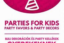 DIY kids party favors and party decors / Gyerekzsúr dekorációk és party kellékek / Parties for kids: DIY kids party favors and party decors! For more craft ideas visit our site: http://www.mindy.hu/en ◄◄ ║ ►►Kézzel készült gyerekzsúr dekorációk ,party kellékek és buli ötletek (Ha magyarul szeretnéd látni az ötletek leírását a Mindy oldalán: a Mindy-n a menü alatti szürke sávban az oldal tetején találhatod a nyelvváltás gombot!) Még több kreatív ötlet: http://www.mindy.hu/hu