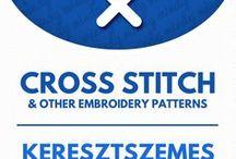 Embroidery & Cross stitch / Hímzés és keresztszemes / Free hand embroidery & cross stitch patterns (&crafts). For more craft ideas visit our site: http://www.mindy.hu/en ◄◄ ║ ►► Ingyenes hímzés és keresztszemes minták (Ha magyarul szeretnéd látni az ötletek leírását a Mindy oldalán: a Mindy-n a menü alatti szürke sávban az oldal tetején találhatod a nyelvváltás gombot!) Még több kreatív ötlet: http://www.mindy.hu/hu