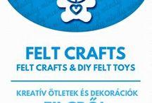 Felt toys & felt crafts / Filc figurák és filc ötletek / Felt toys & felt crafts (free tutorials & sewing patterns). For more craft ideas visit our site: http://www.mindy.hu/en ◄◄ ║ ►► Kreatív ötletek filc anyagból - szabásmintákkal (Ha magyarul szeretnéd látni az ötletek leírását a Mindy oldalán: a Mindy-n a menü alatti szürke sávban az oldal tetején találhatod a nyelvváltás gombot!) Még több kreatív ötlet: http://www.mindy.hu/hu