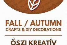 """Fall crafts (autumn crafts)  //  Őszi dekorációk - őszi ötletek / Fall (autumn) crafts & fall (autumn) decor tutorials. For more craft ideas visit our site! ❤  https://www.mindy.hu/en ◄◄ ║ ►►  Ősszel kapcsolatos kreatív ötletek és dekorációk. (A Mindy.hu oldalán, a """"nyelv váltás"""" gombbal tudod majd magyarra váltani a cikkeket.) Még több kreatív ötlet: http://www.mindy.hu/hu"""
