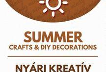 """Summer crafts & summer decor / Nyári dekorációk - nyári ötletek / Summer related craft ideas & decor tutorials. For more craft ideas visit our site! ❤ http://www.mindy.hu/en ◄◄ ║ ►►Nyárral és nyaralással kapcsolatos kreatív ötletek és dekorációk. (A Mindy.hu oldalán, a """"nyelv váltás"""" gombbal tudod majd magyarra változtatni a cikkeket.) Még több kreatív ötlet: http://www.mindy.hu/hu"""