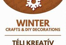 """Winter crafts & winter decor // Téli kreatív ötletek - ötletek télre / Winter related craft ideas & decor tutorials. For more craft ideas visit our  site! ❤ http://www.mindy.hu/en ◄◄ ║ ►►  Téllel kapcsolatos kreatív ötletek és dekorációk. (A Mindy.hu oldalán, a """"nyelv váltás"""" gombbal tudod majd magyarra változtatni a cikkeket.) Még több kreatív ötlet: http://www.mindy.hu/hu"""