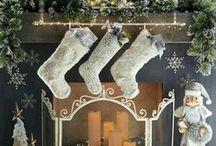 ➳ Christmas Mantel Decorating Ideas