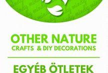 Other nature crafts // Egyéb kreatív ötletek természetes anyagokból