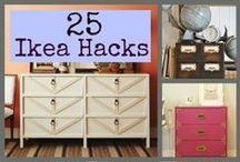 Ikea Hackers! / Ikea Hacks...great DIY tricks using Ikea items to turn your 'cheap' Ikea piece into something wonderful!