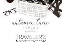 Traveler's Notebook Love / Traveler's Notebook Ideas, Planner, Planning, Journal, Journaling