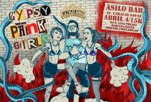 gypsy punk and balkan / Illustrations for party, gypsy, punk and dance By Mara Carvajal