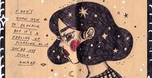 Kathrin Honesta: Sketches & Doodles / My doodles & thoughts; mostly portrait sketches, or anything random :)