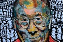 Lama, Dalai / The Dalai Lama Project  was presented at the University of Ottawa, June 2, 2009, as part of the 2nd Annual Conference of the Canadian Association for Refugee and Forced Migration Studies. It was presented as electronic images on World Refugee Day, June 20, 2008 at the city of Ottawa and as paintings and electronic images at World Refugee Week Celebrations, June 16-20, 2010 at Library and Archives Canada in Ottawa. SEE: http://globalvoicesproject.ca