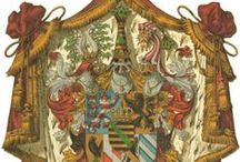 Almanach de Saxe Gotha - Grand Duchy of Saxe-Weimar-Eisenach - House of Wettin / The Duchy of Saxe-Weimar-Eisenach (German: Herzogtum Sachsen-Weimar-Eisenach) was created in 1809 by the merger of the Ernestine duchies of Saxe-Weimar and Saxe-Eisenach. It was raised to a Grand duchy in 1815 by resolution of the Vienna Congress.  Almanach de Saxe Gotha Page: http://www.almanachdegotha.org/id52.html