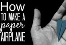 Paper Airplane Tutorials / Easy to follow instructions and video tutorials for making paper plane airplanes.