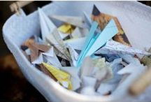 Paper Plane Wedding Ideas / Cool ideas for weddings using a paper plane motif.