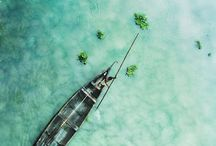 tropical / tropical destinations with blue/green hues