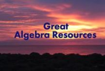 Great Algebra Resources / For Teachers and Students