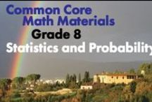 CCG8: Statistics and Probability / Common Core Grade 8: Statistics and Probability. Great teaching resources to help students investigate patterns of association in bivariate data.
