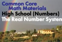 CCHS (Num): The Real Number System / Common Core High School: Number and Quantity: The Real Number System. Great teaching resources to help students 1) Extend the properties of exponents to rational exponents. 2) Use properties of rational and irrational numbers. (New collaborators, we pin a max of one per person per day so that we don't overwhelm followers.)