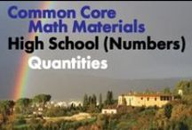 CCHS (Num): Quantities / Common Core High School: Number and Quantity: The Real Number System. Great teaching resources to help students reason quantitatively and use units to solve problems.  (New collaborators, we pin a max of one per person per day so that we don't overwhelm followers.)